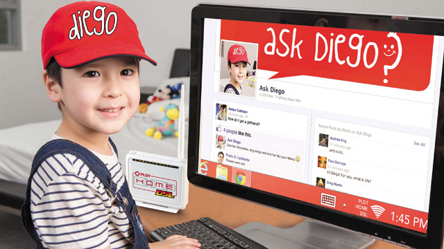 ASK DIEGO. This kid can answer grown-up questions thanks to limitless sharing and strong connections at home