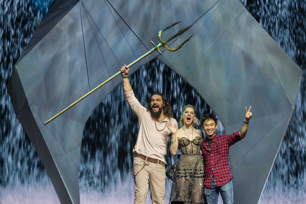 'AQUAMAN' IN MANILA. Movie co-stars Jason Momoa and Amber Heard, along with director James Wan, gave the crowd at SM Mall of Asia a fan event to remember. Photo by Lisa David/Rappler