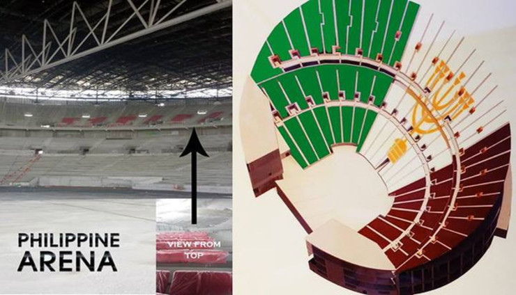 Philippine Arena Inside Basketball in The Philippine Arena is