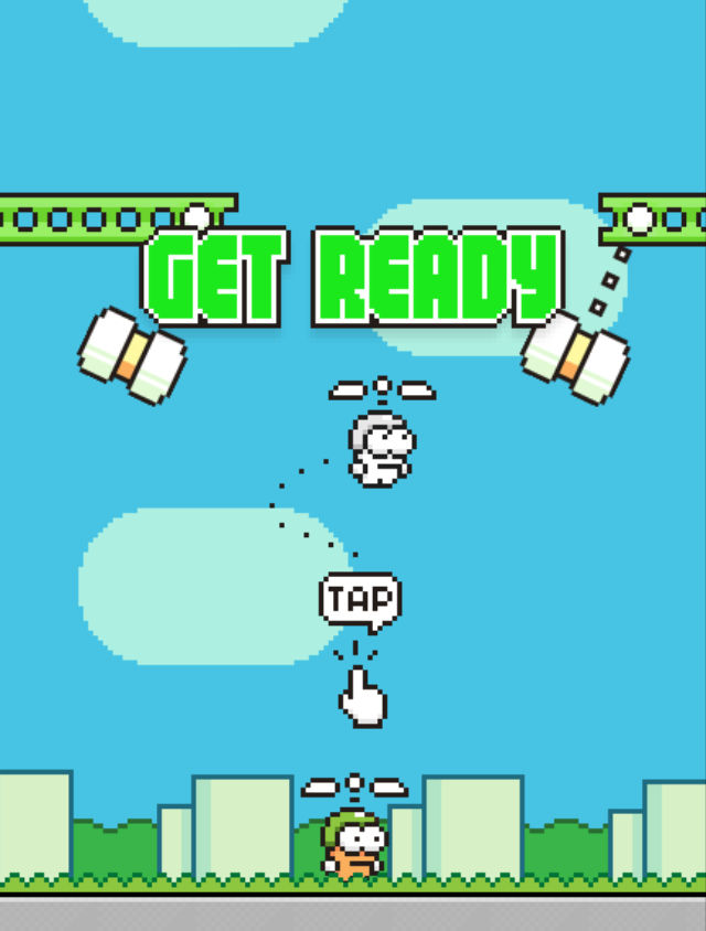 Flappy Bird Get Ready Screen