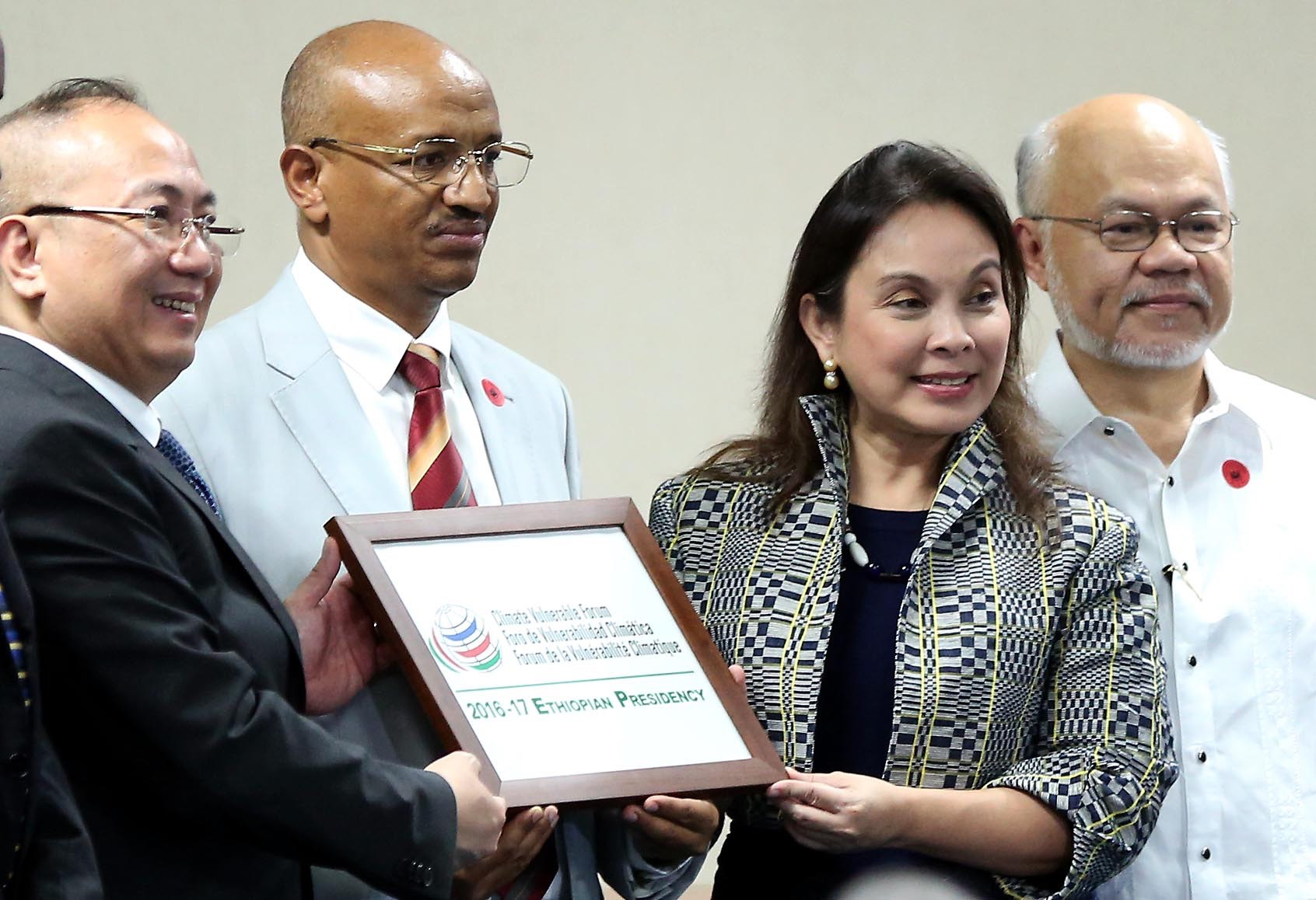 CVF TURNOVER. Senator Loren Legarda, chair of the Senate Committee on Climate Change at the Senate on Monday leads the turnover of the chairmanship of the Climate Vulnerable Forum (CVF) from the Philippines to Ethiopia. Photo by Alex Nuevaespaña/Senate PRIB.
