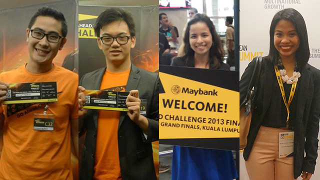 FROM MILLENNIALS TO MILLENNIALS. Maybank Go Ahead Challenge finalists (from left) Richard Ocampo, John Richmond Go, Janina Imperial, and Timmy Caparros share their lessons learned from the competition. Photos from Maybank Philippines