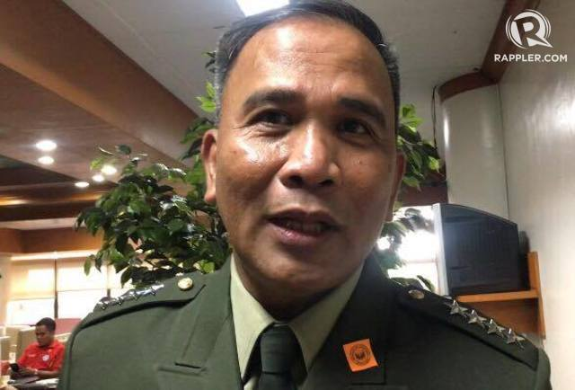 DECIMATE. AFP chief General Ricardo Visaya vows to 'decimate, neutralize' the terrorist group Abu Sayyaf before he retires on December 8, 2016. Photo by Camille Elemia/Rappler
