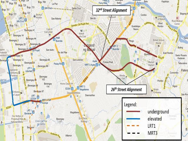 Mega Manila Subway Map.Duterte Admin Revives Plan To Build Metro Manila Subway