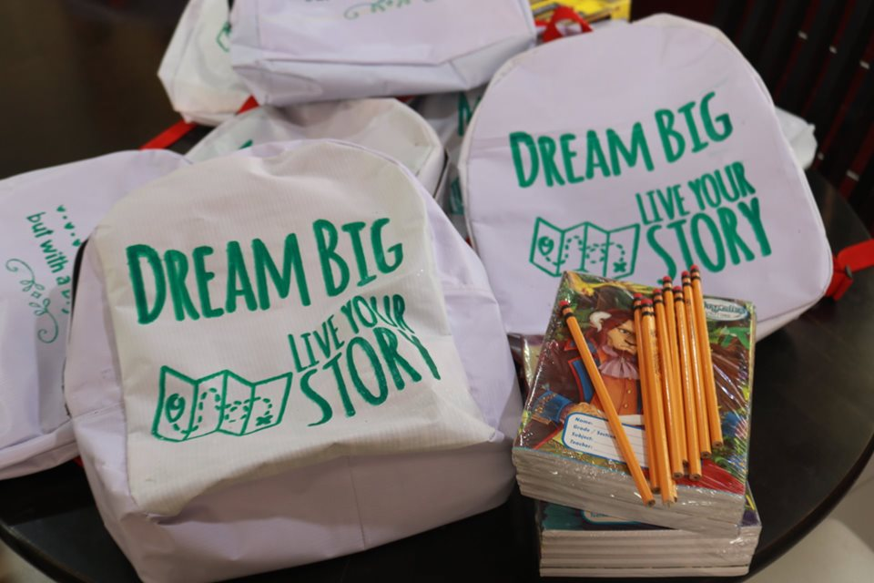 DREAM BIG. In Dumalinao, Zamboanga del Sur, tarpaulins are being upcycled into school bags decorated with inspirational quotes. Photo by Dumalinao LGU