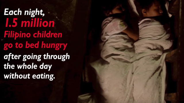 NO ONE LEFT BEHIND. Save the Children calls for immediate action to end hunger and poverty in the Philippines. Screenshot from Save the Children's campaign video