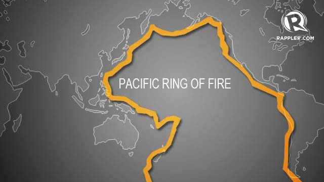 Active Volcanoes In The Pacific Ring Of Fire