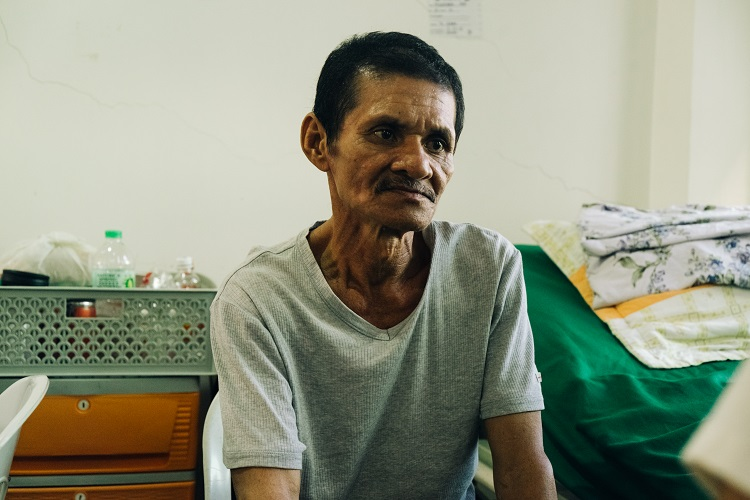 PATIENT. Hose Felesedario Palasan is one of the city hospital's patients whose fees were shouldered by JRBGH's program. Photo by Stephen Pedroza