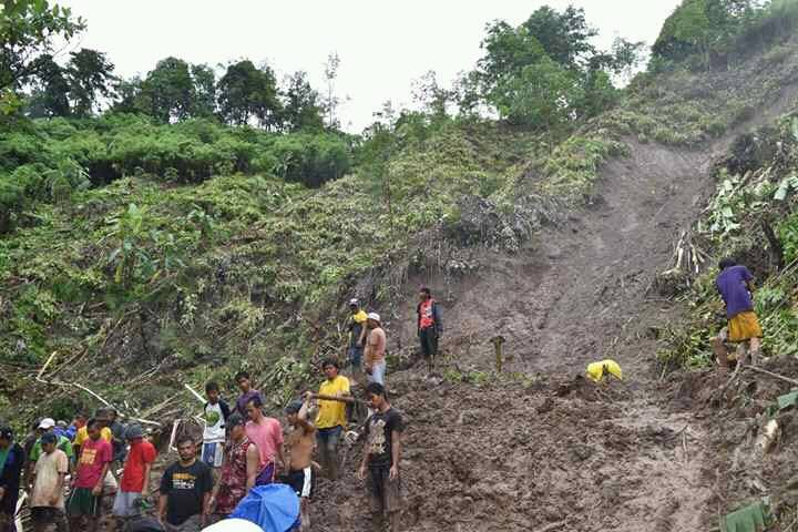 SWEPT. Rescuers are conducting retrieval operations as 4 residents were buried alive in a landslide, Tuesday morning, August 22. Photo from LDRRMC Kabasalan