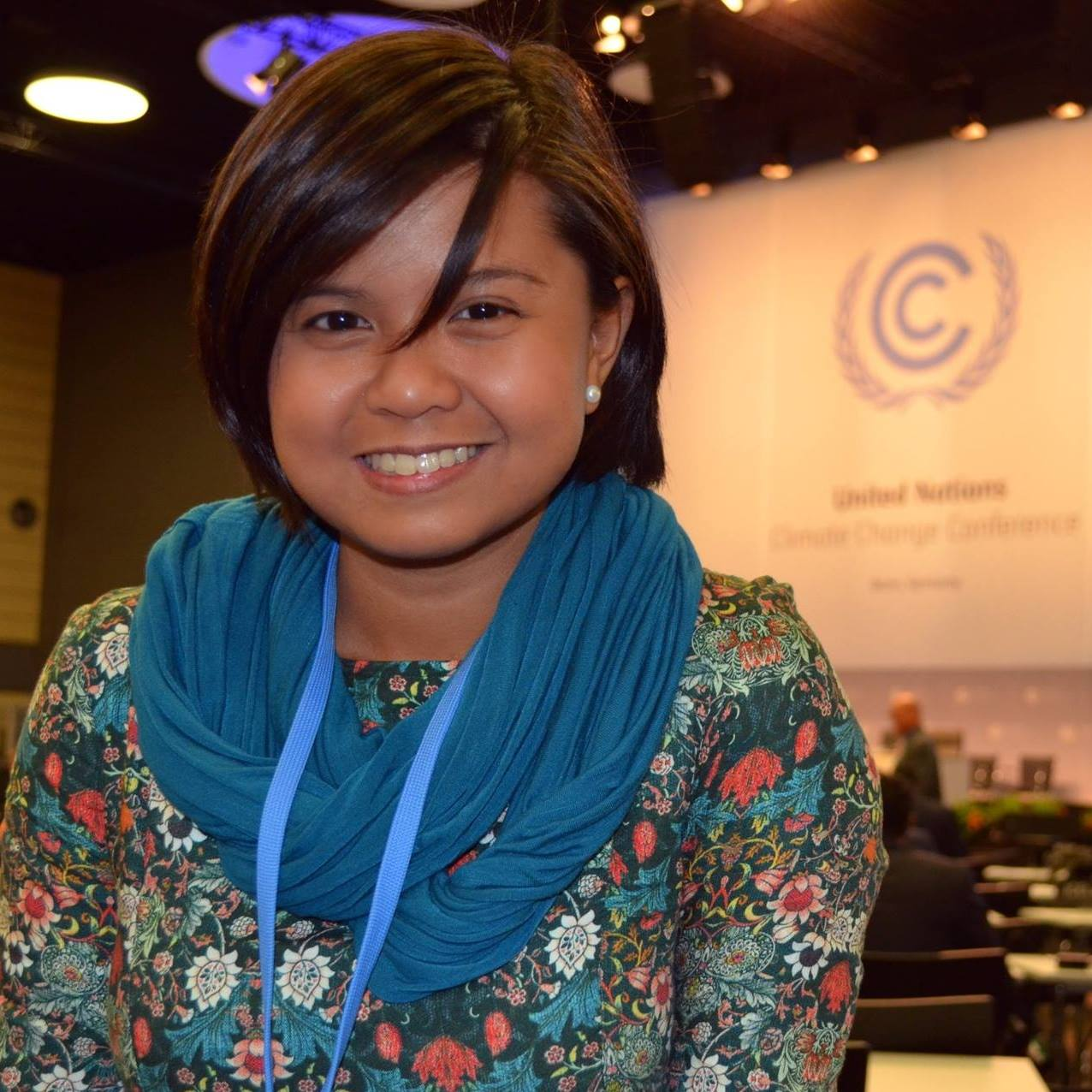 FIGHTING CLIMATE CHANGE. Renee Karunungan is a outreach manager for Climate Tracker.  Photo from Renee Karunungan