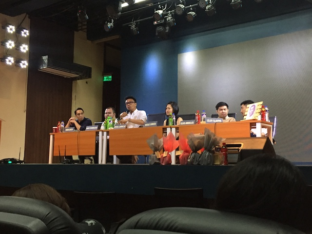 THE DUTERTE READER. A conversation with the contributors and editor of the book The Duterte Reader was conducted in UP Manila. (L-R) Robin Garcia, Andoy Evangelista, Jayeel Cornelio, Nicole Curato, Cleve Arguelles, and Leloy Claudio