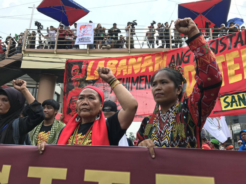 NATIONAL MINORITIES. At least 2,000 delegates from the national minorities join the September 21 protests to mark the 45th anniversary of the Martial Law. Photo by Aika Rey/Rappler
