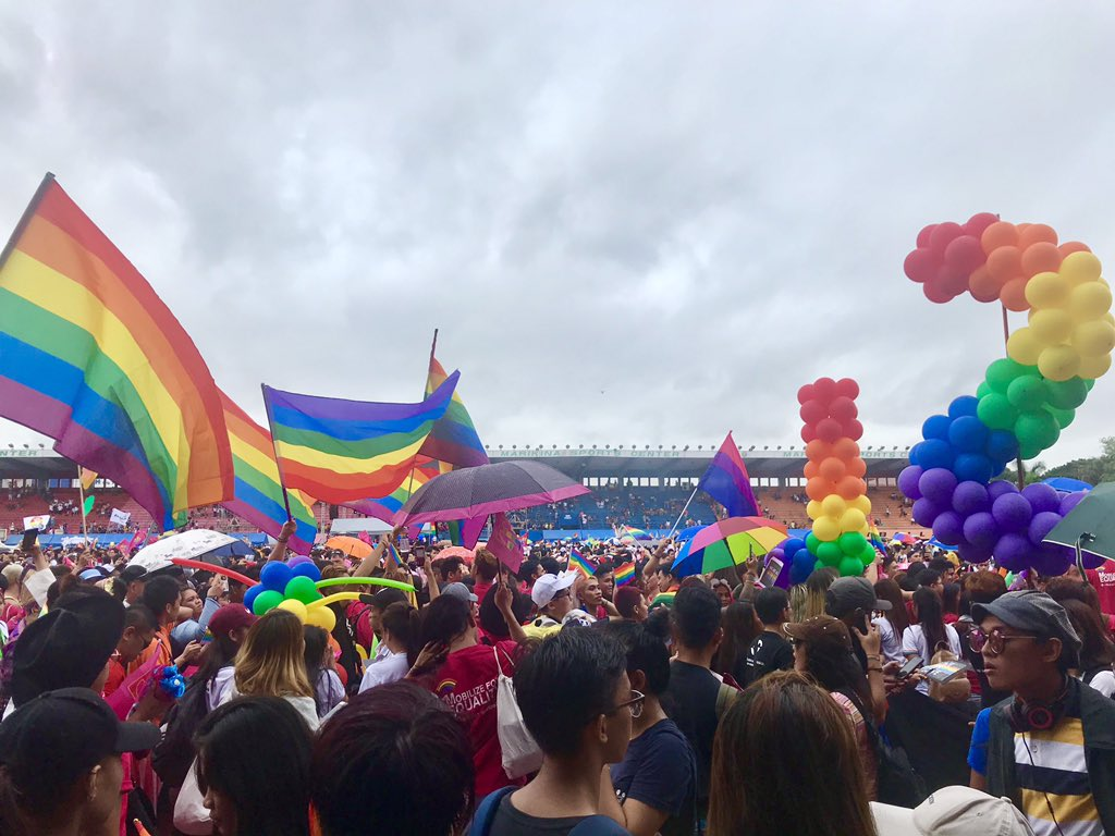 PRIDE. This year's Pride March at the Marikina Sports Center gathers 52,000 attendees beating last year's 25,000-strong crowd record on Saturday, June 29. Photo by Ralf Rivas/Rappler