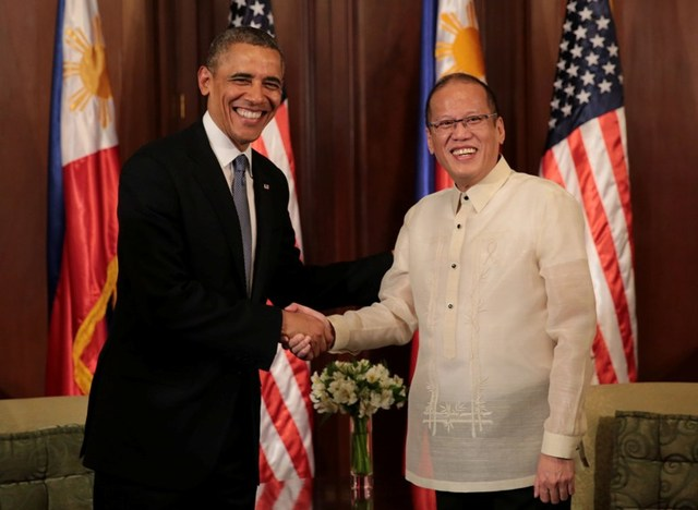 TREATY ALLIES. President Aquino and US President Barack Obama during his state visit to Manila in April 2014. Malacañang Photo