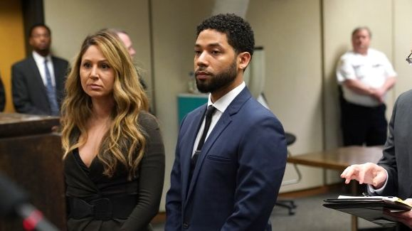 NOT GUILTY. Jussie Smollett pleads not guilty to the 16 felony counts charged against him by the Chicago jury. Photo by E. Jason Wambsgans/POOL/AFP