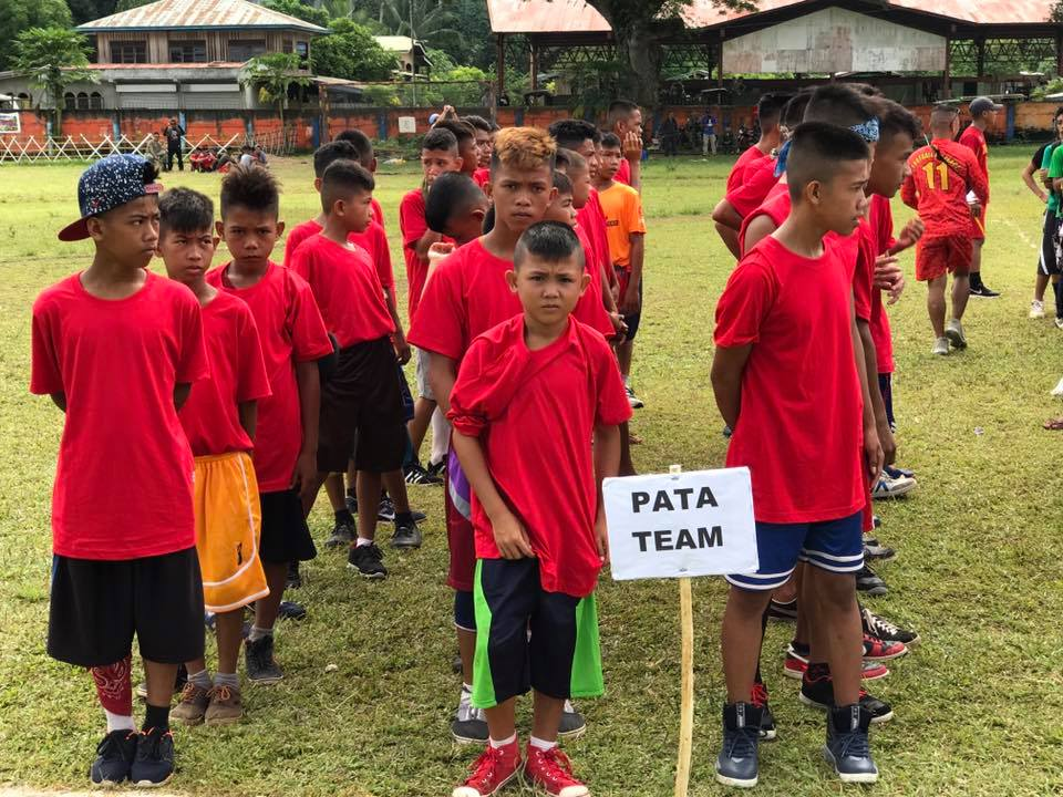 FOR PEACE. Around 700 students participated in the 6th Football for Peace Festival in Luuk, Sulu. Photos courtesy of Col. Stephen Cabanlet