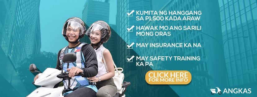 ANGKAS APP. These are the promises made by Angkas to attract bikers to apply. Photo from Angkas Barkada Facebook Page
