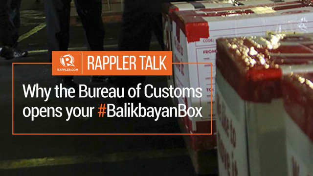 Rappler talk why the bureau of customs opens your for Bureau tagalog