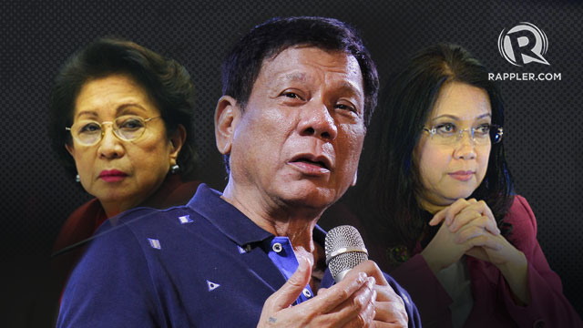 'PROTECT DEMOCRACY'. The Alternative Law Groups urge Congress to protect democracy, and media and civil society to 'intensify their vigilance' amid President Rodrigo Duterte's attacks on Ombudsman Conchita Carpio Morales (left) and Chief Justice Maria Lourdes Sereno (right).
