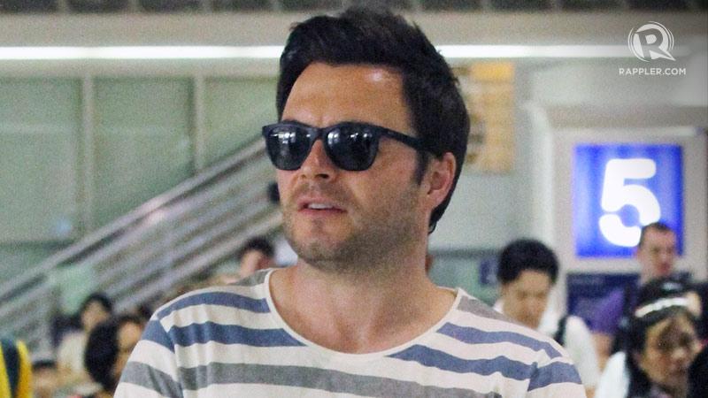 Former Westlife singer Shane Filan arrives in Manila