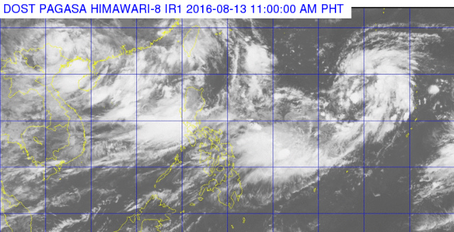 Satellite image as of August 13, 11 am. Image courtesy of PAGASA