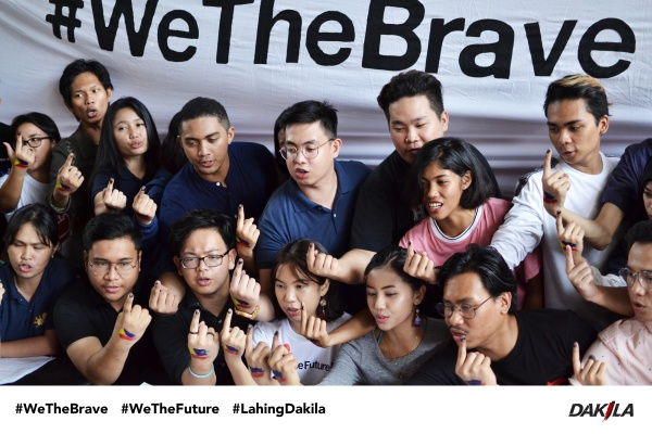 BRAVE YOUTH. Youth leaders call for a unified action among young Filipinos in the upcoming elections. Photo courtesy of #WeTheBrave.