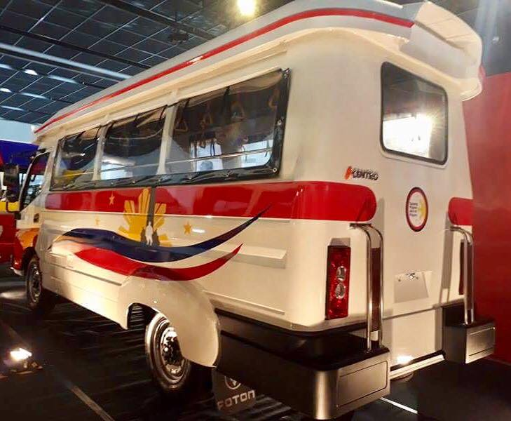 PROTOTYPE. The new jeepney offers a safer vehicle structure.