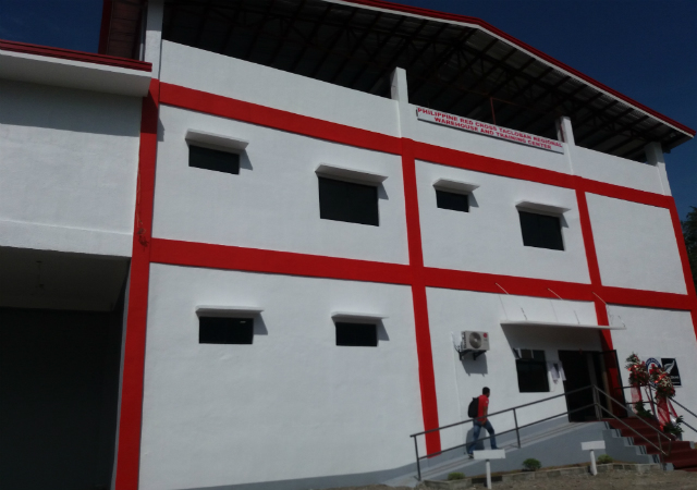 RECOVERY. The new Philippine Red Cross warehouse will be used for logistics purposes in times of disasters. Photo by Jazmin Romero/ Rappler