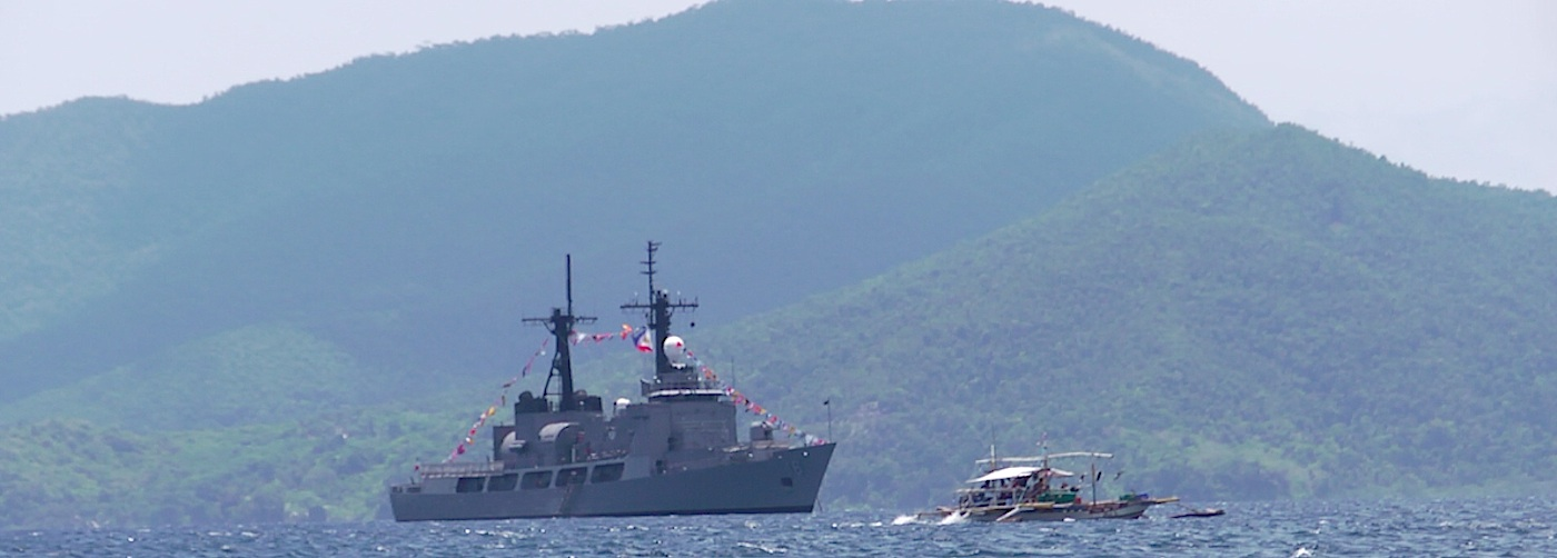 PATROLS. The BRP Gregorio Del Pilar photographed inside Ulugan Bay in Palawan, located at the mouth of the West Philippine Sea. Rappler photo