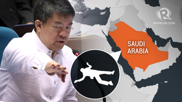 PROBE. Senate President Aquilino Pimentel III has filed a resolution seeking an inquiry into the death of a 35-year old Overseas Filipino worker who was raped by her employer in Saudi Arabia.