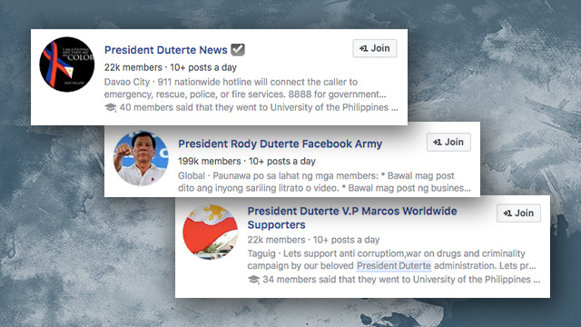 From Korean idol group to Duterte Supporters on Facebook?