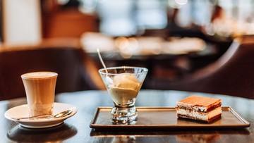 SALVATORE CUOMO & BAR'S Café Latte and Tiramisu. Photo by Karen de la Fuente/Rappler