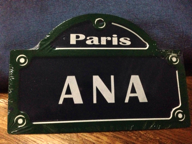 FINDING MYSELF. Finding 'Ana' in Paris. Photo by Ana Santos