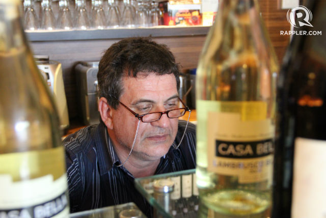 TAKEN. Italian restaurateur Rolando del Torchio is kidnapped from his restaurant in Dipolog City. Photo by Gualberto Laput