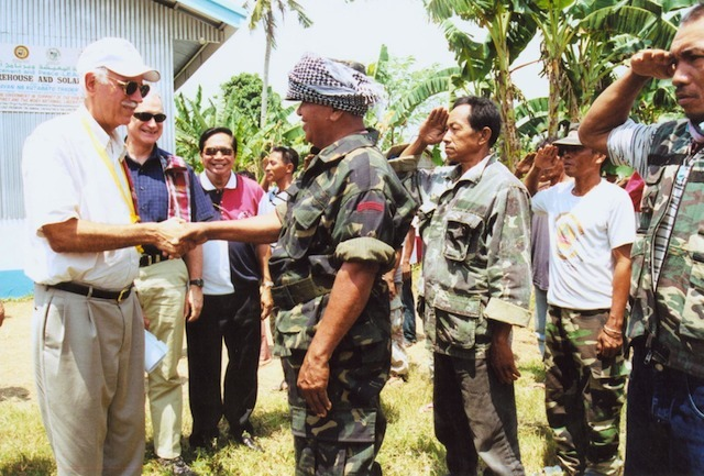 WARM WELCOME. The MNLF welcomes USAID. Photo courtesy of Noel Ruiz
