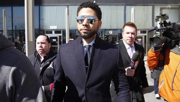 FREE MAN. Chicago police drop all charges made against Jussie Smollet and his attack hoax crime. Photo by Nuccio Dinuzzo/Getty Images North America/AFP