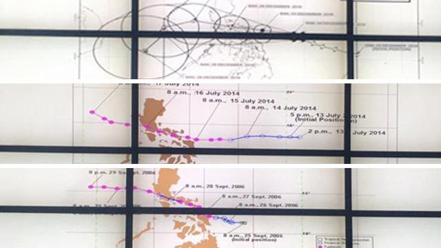 SIMILARITIES. Project NOAH executive director Mahar Lagmay says Typhoon Nina is similar to past typhoons Milenyo, Santi, and Glenda. Photo from Mahar Lagmay's Facebook account