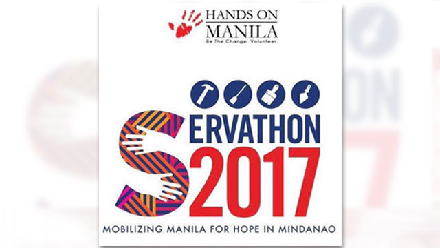 VOLUNTEERISM. Hands on Manila will be gathering 27 companies to volunteer for Servathon 2017 in benefit of the Marawi victims. Photo from Hands on Manila Facebook page