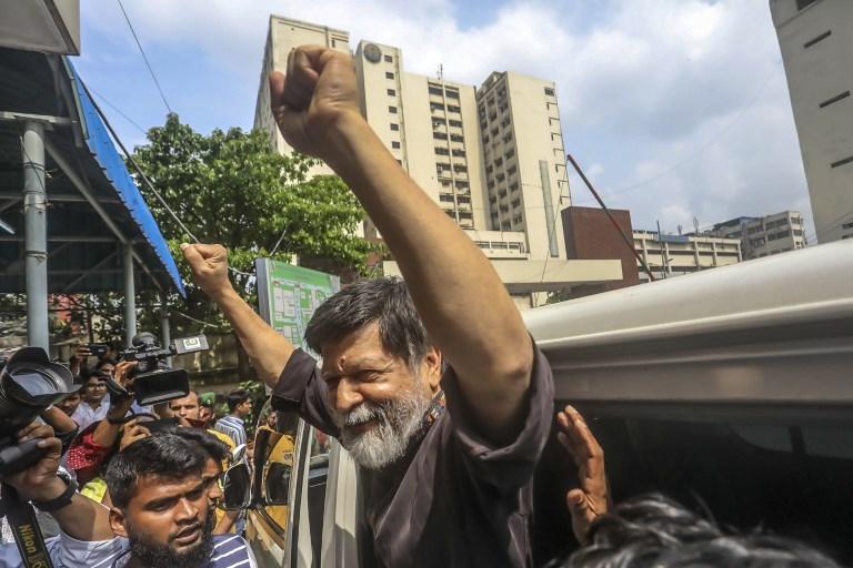 BAIL GRANTED. File photo of renowned Bangladeshi photographer Shahidul Alam.  AFP Photo