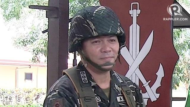 SULU ISLAND COMMANDER. Colonel Allan Arrojado of the Philippine Army