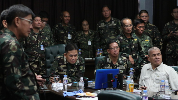 WAR ROOM: In Manila, the Armed Forces of the Philippines was closely monitoring the situation in Golan Heights. Photo by AFP-PAO