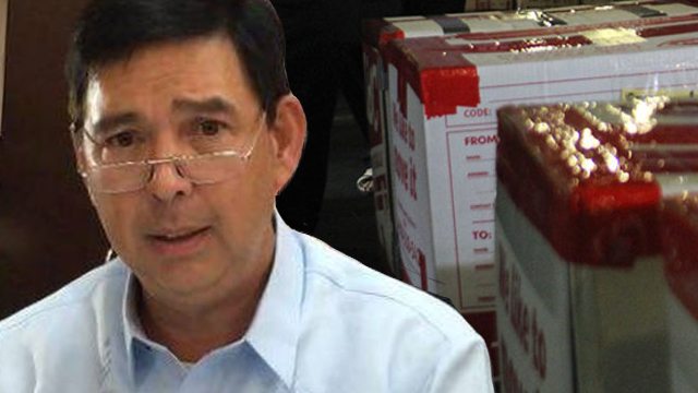 As Christmas approaches, Senator Ralph Recto said that the Bureau of Customs must already implement the new tax exemption ceilings for balikbayan boxes. Photo of Recto by Camille Elemia; balikbayan box by Bureau of Customs