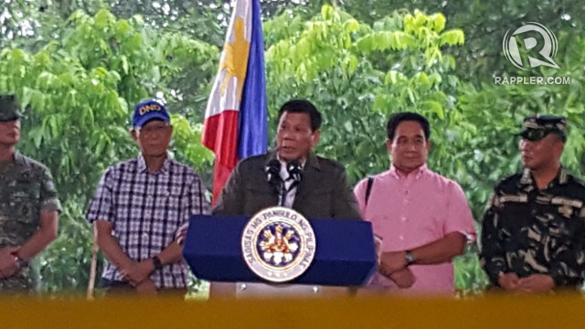 'STRENGTHEN AFP.' President Duterte wants 20,000 more soldiers for the Philippine military. Photo by Pia Ranada/Rappler