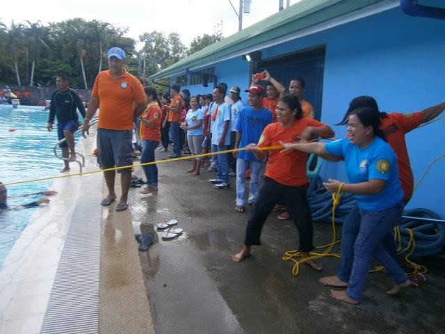 Barangay officials conduct water search and rescue operations as part of the annual Rescue Olympics. All photos by the San Jose MDRRMO
