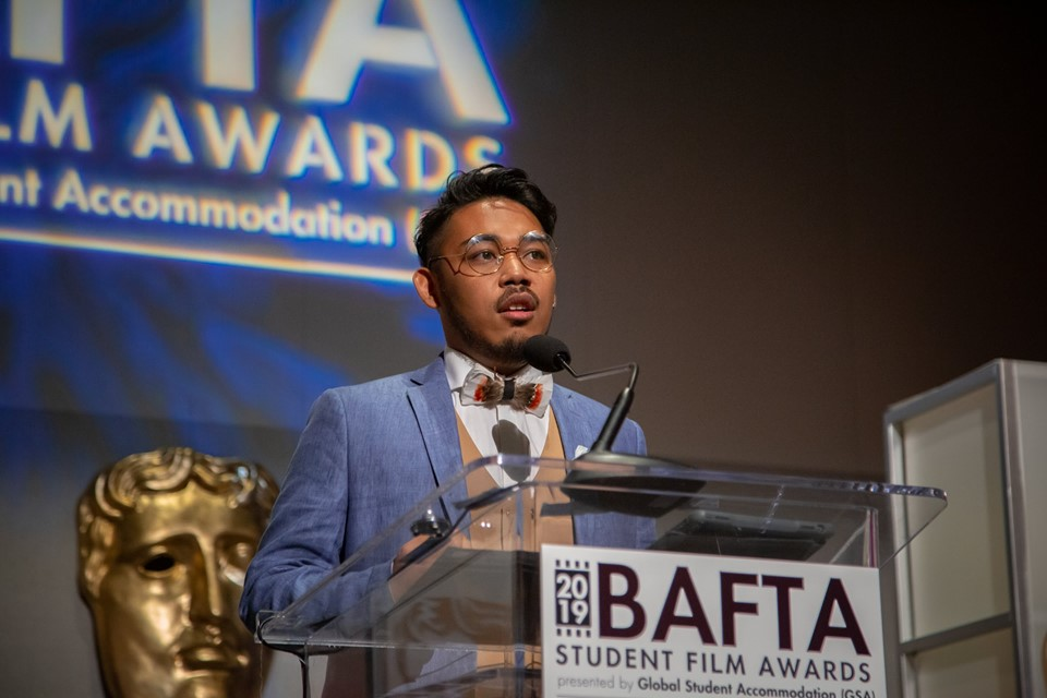 WIN. Student documentary filmmaker Drama del Rosario is one of the two winners of the inaugural BAFTA-GSA Commissioning Grant for his film 'I'm Okay (And Neither Are You).' Photo by Lan Nguyen