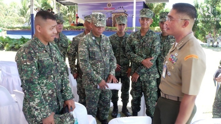 AYUNGIN MARINES: Lieutenant Mike Pelotera and fellow Marines deployed to the West Philippines Sea. Photo by Rappler