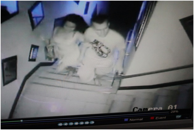 OLONGAPO MURDER. CCTV footage shows the victim, Jeffrey Laude, and the suspect in a hotel before the crime allegedly happened in Celzone Lodge, Olongapo City.