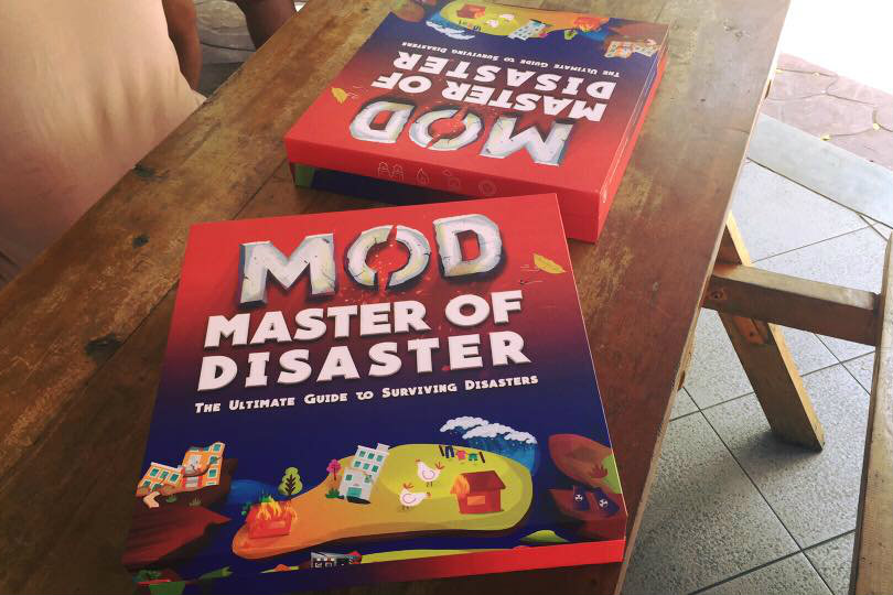PREPARED. The board game Master of Disaster is designed for kids 9 and above to teach them disaster preparedness and response at an early age. Photo by ASSIST
