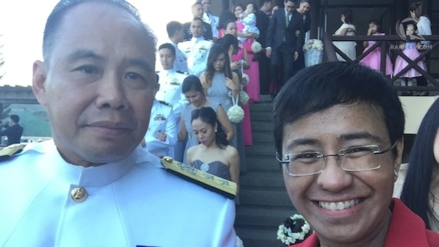 RADM Jose Renan Suarez with me waiting for the entrance of the procession