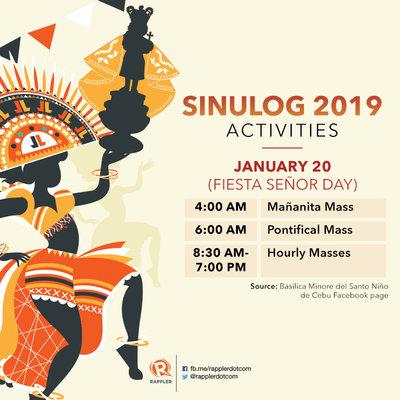 SCHEDULE: Sinulog 2019 activities